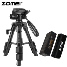 ZoMei Q100 Mini Travel Table Tripod Tabletop Stand with 3-Way Pan / Tilt Head 1 4 inches Quick Release Plate and Bag for DSLR