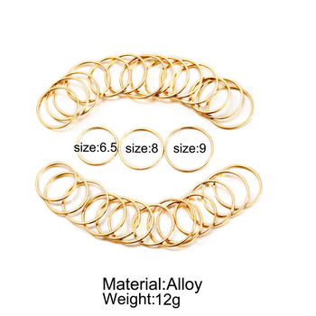 IF ME 30pcs/set Vintage Punk Gold Ring Set for Women Men Fashion Retro Antique Finger Ring Fashion Party Jewelry Lot 2019 NEW 5