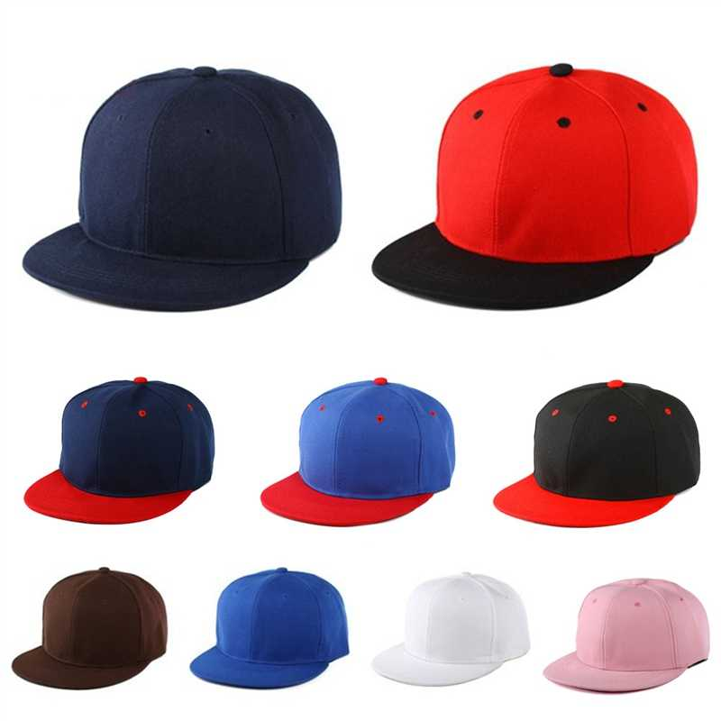 1911fa7c018 Wholesale Hip Hop Flat Cap Adult Solid Color Patched Baseball Hat Women And  Men Logo Custom