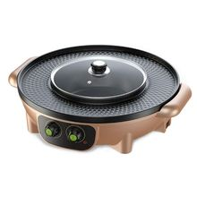 Korean Barbecue Hot Pot Dual Pot Built-in Cooking Pot Electric Hot Pot Electric Barbecue Electric Baking Moul wuxey mini electric hot pot student dormitory pot double layer food steamer household multifunctional noodles cooking pot