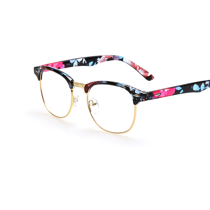 Ladies Metal Frame Glasses : Unisex Womens Retro Half Frame Glasses Metal Frame Clear ...