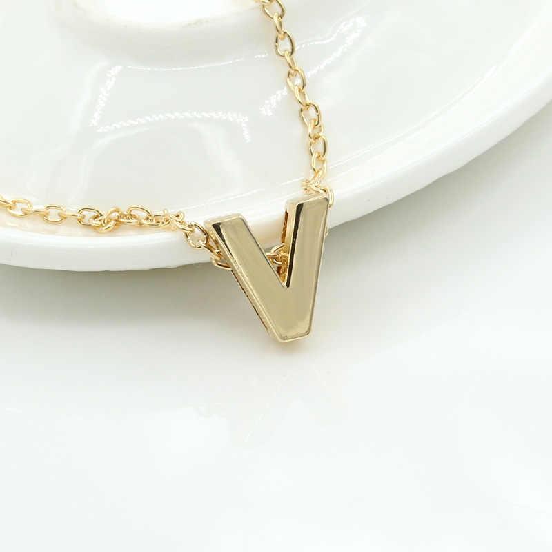 ファッションタイニー珍味初期パーソナライズ金属手紙チョーカー女性ゴールド/シルバーペンダント襟宝石類のギフト