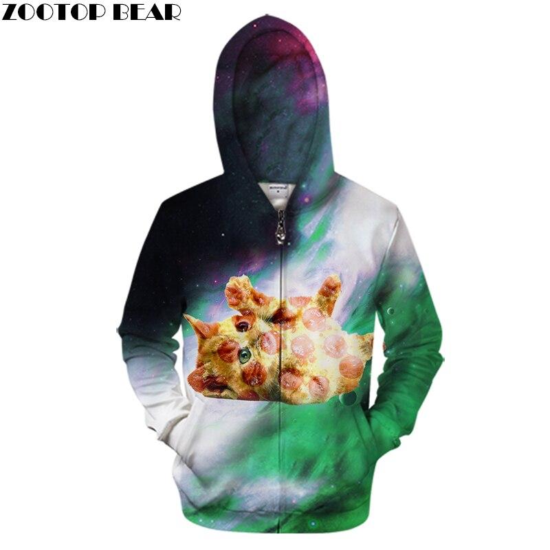 Animal Zip Hoodies Men Women Zipper Hoodie Brand Cardigan Sweatshirts Unisex Tracksuits Male Plus Size Hoodie Coats ZOOTOP BEAR