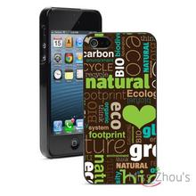 Heart Love Green Natural Eco back skins mobile cellphone cases for iphone 4 4s 5 5s