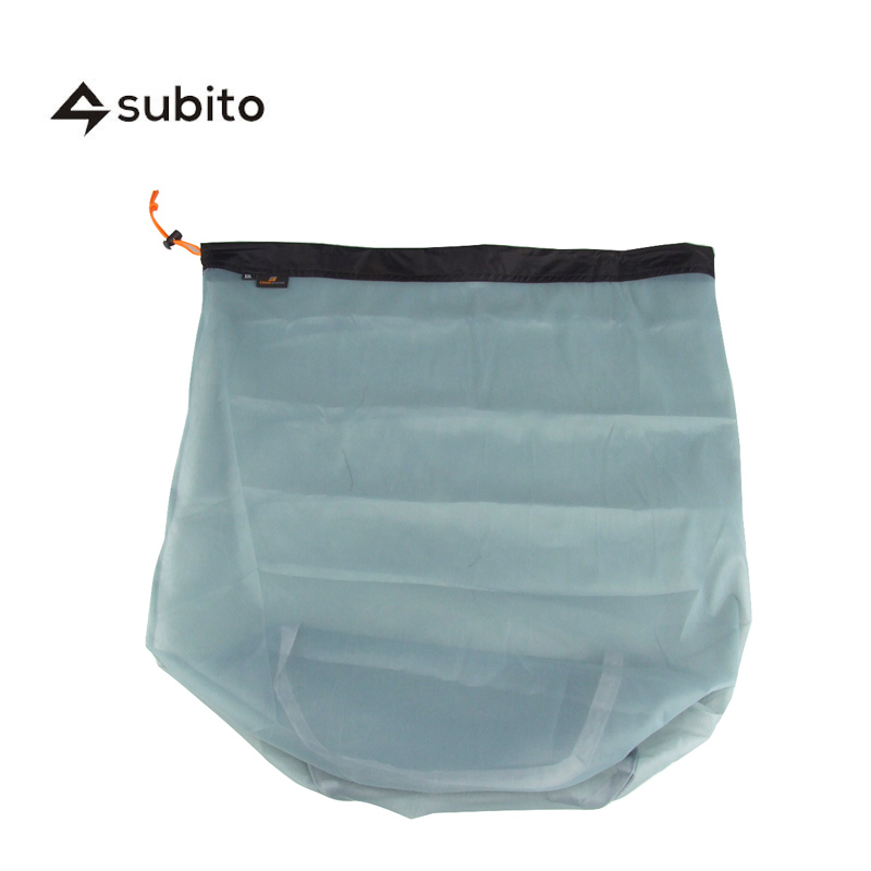 SUBITO XXL Size 3 Pcs Ultra Mesh Stuff Sack Tavel Camping Sports Ultralight Mesh Organization Home Drawstring Storage Bag Pouch