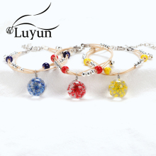Luyun 2019 Hot Dried Flower Glass Beads For Bracelet Boho Adjustable Weave Women Bracelets Wholesale