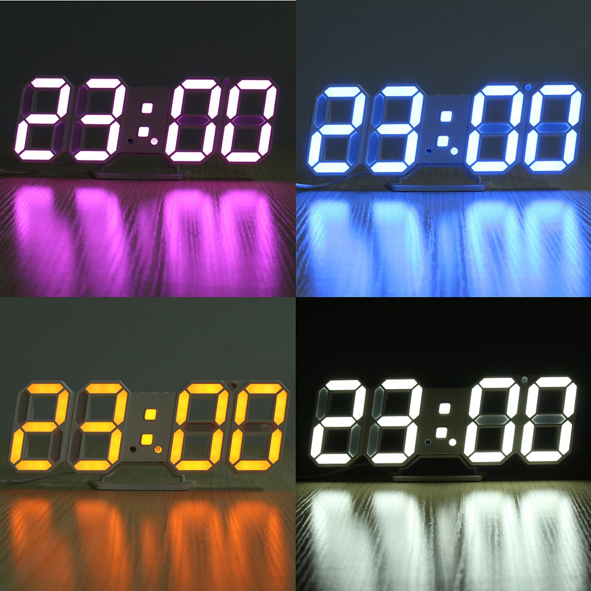 digital office clocks. Modern 3D LED Wall Clock Digital Alarm Clocks Display Temperature Dispaly For Home Kitchen Office Decoration 4Color Available-in From R