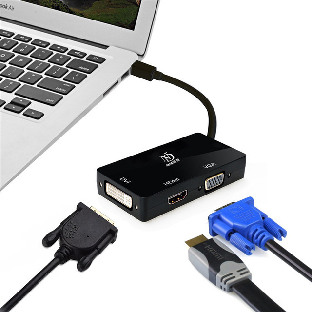 Thunderbolt2 Hub Mini Displayport To Hdmi Vga Dvi Multi