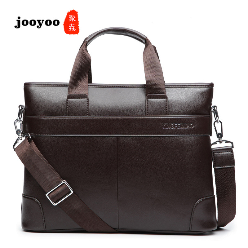 New Fashion Wild Men's Large Capacity Briefcase Business Style Laptop Shoulder Bags Computer Casual Men Jooyoo