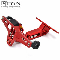 Universal CNC Motorcycle Adjustable License Number Plate Frame Holder Bracket Mount For BMW S1000RR S1000R R1200RT