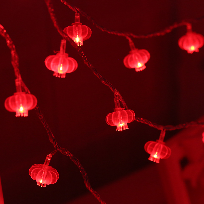 Spring Festival Holiday Decorative Red Lantern Led String