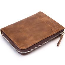 RFID Theft Protect Coin Bag Zipper Men Wallets with Pocket ID Blocking Mini Slim