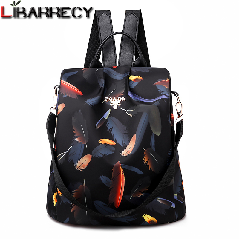 Fashion Mujer Mochila Women Backpack Anti-theft Waterproof Oxford Girls Shoulder BackBag For Teenagers Shopping Feminina Bagpack