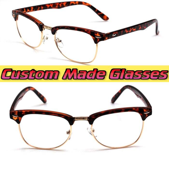3b0994fb7a50b Retro Old Time Moda Mais Em Custom Made Óculos de Leitura + 1.0 + ...