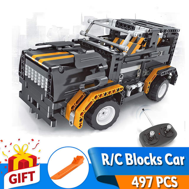 Build Rc Car >> Us 35 63 45 Off 497pcs Transform A B Model Car Diy Rc Car Build Blocks Car Kit Rc Track Race Car Set Education Toys Gift For Children Girl Boy In