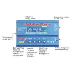 Image 3 - Htrc Imax B6 80W 6A Batterij Lader Lipo Nimh Li Ion Ni Cd Digitale Rc Charger Lipro Balans Lader ontlader + 15V 6A Adapter
