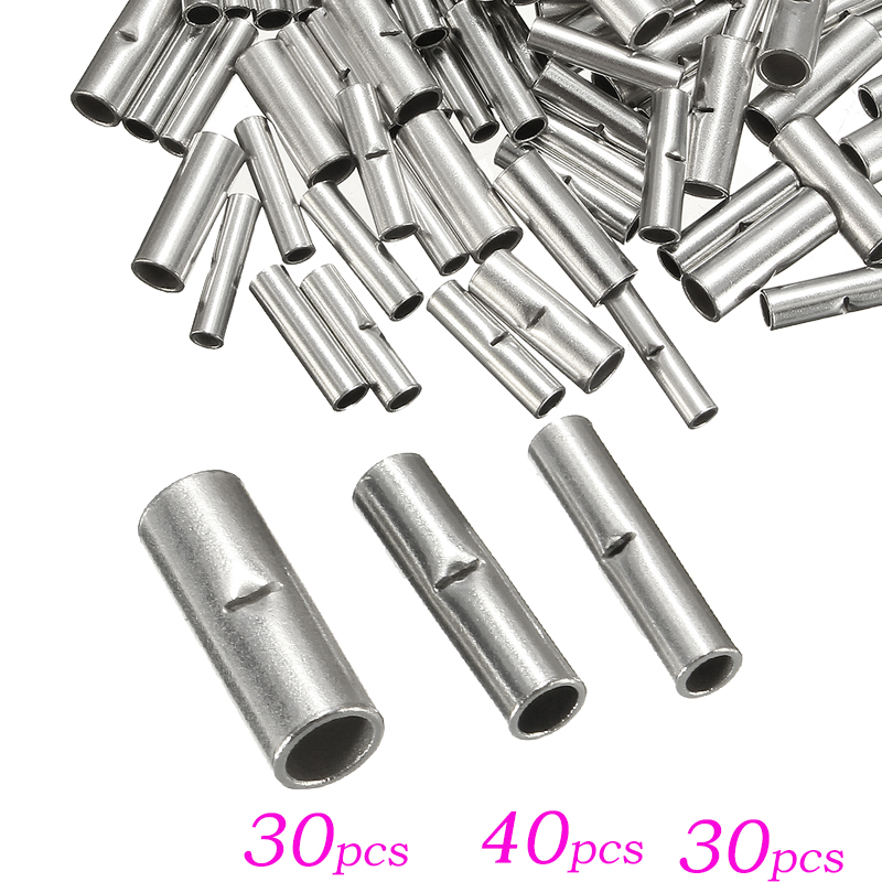 100pcs/lot Butt Splice Connectors 10mm Copper 22-10awg Tinned Splice Crimp Terminal Sleeve Cable Heat Shrink Tube Sleeving Kits Latest Fashion Terminals Electrical Equipments & Supplies