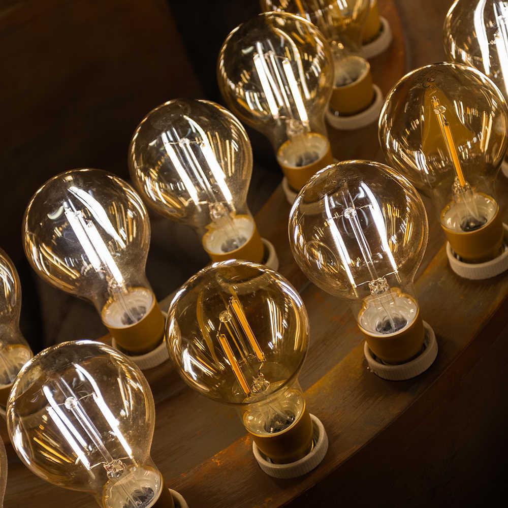 ZDM светодиодный лампы в форме свечи лампы C35 G45 винтажная лампа E14 светодиодный E27 A60 220v светодиодный Глобус декоративные 2W 4W 6W 8W нитевые Эдисон светодиодный светильник лампы