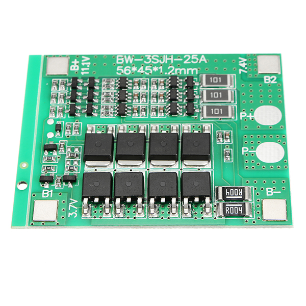 1Pc 3S 12V 25A 18650 Lithium Battery Protection Board 11.1V 12.6V PCB BMS With Balancer Circuit For Drill Motor