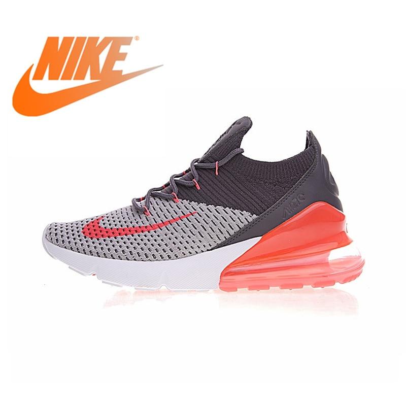 Authentique Nike Air Max 270 Flyknit chaussures de course pour femmes Sport baskets de plein Air confortable Durable respirant AO1023