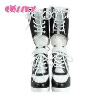 هارلي كوين النساء سليم أحذية أحذية 2017 الجديدة النساء أحذية مثير الثلوج الأحذية النسائية الشتاء الفخذ أحذية عالية حذاء امرأة بيضاء HG35
