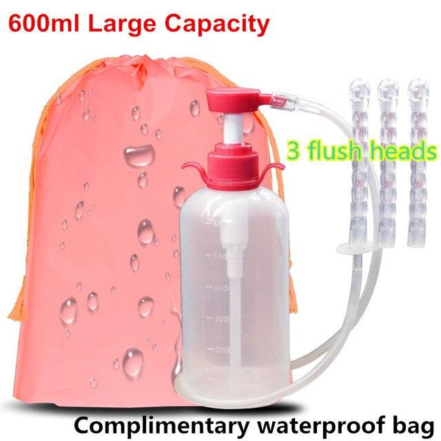 600 ml lavado vaginal médico de alta capacidad uso repetido cuidado de la Vagina cuidado de la salud limpieza Vaginal irrigación colónica Enema Rectal