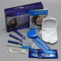 Tanden Kit Met 4 Gel 2 Strips 1 Licht 1 doos Tand Whitener Bleach Heldere Witte 3D Mondhygiëne Dental Care bleken