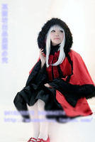 K Kushina Anna Cosplay Costume Halloween Red Lolita Uniform Hat+Cape+Top+Dress+Bow Custom made