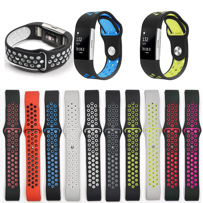 Breathable Sport silicone Band for fitbit charge 2 Wristband Replaceable Bracelet Wrist Strap replacement luxury silicone watch band wrist strap for fitbit charge 2 bracelet 580287