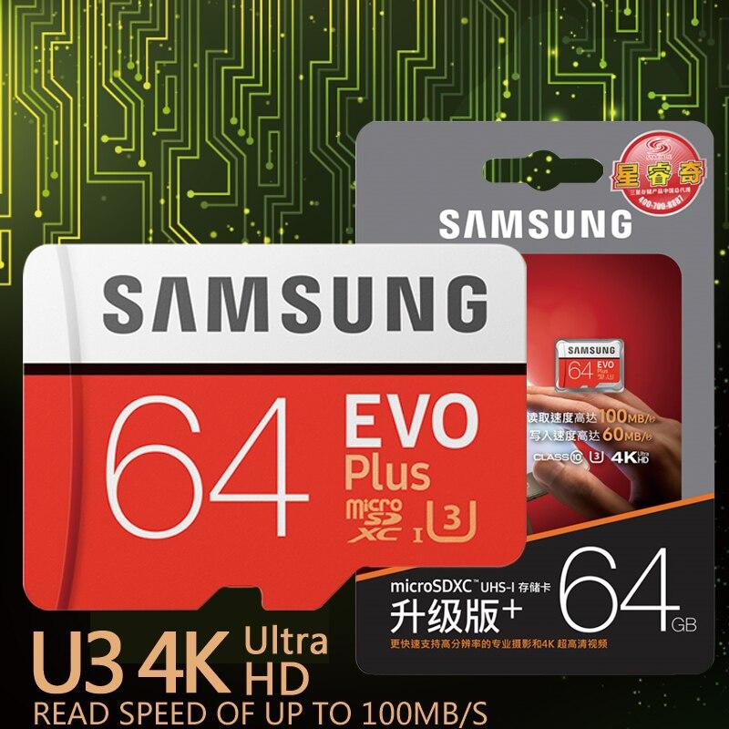 SAMSUNG EVO Più Scheda di Memoria 32 GB SDHC 80 mb/s Class10 Micro SD C10 U1 Carte di TF Trans Flash SDXC 64 GB 128 GB 256 GB di trasporto libero