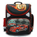 NEW 2016 cartoon car red Racing orthopedic children/kids elementary school bag books/ student backpack for boys class/grade 1-4