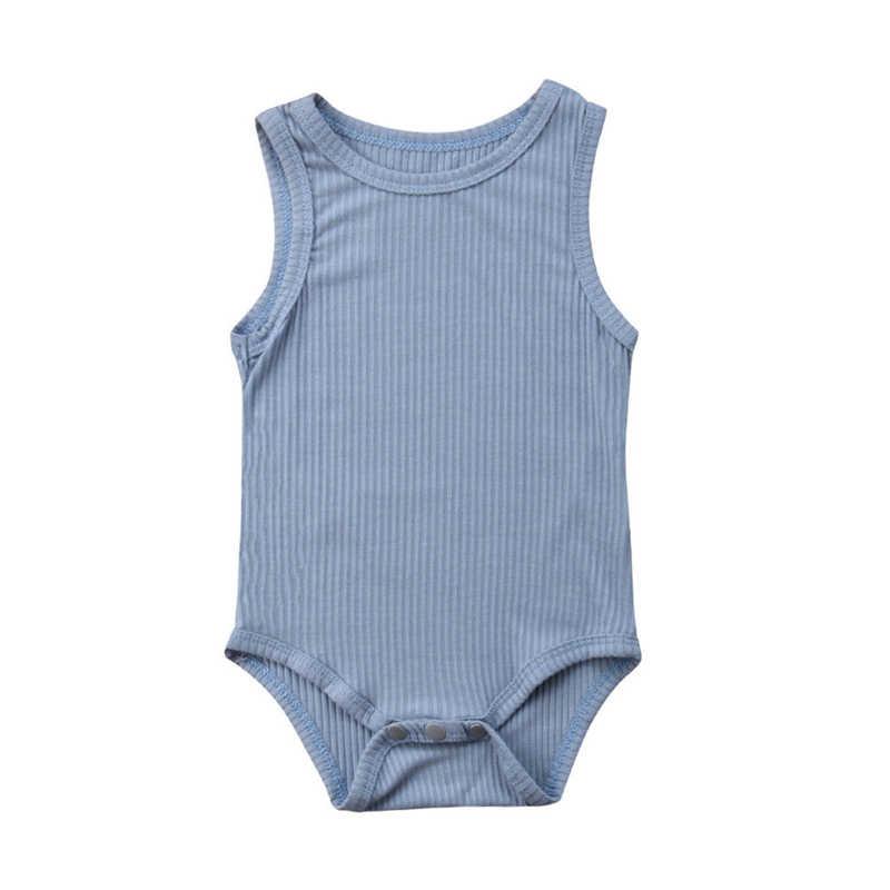 Zomer Katoen Body Voor Meisjes Pasgeboren Baby Meisje Jongen Mouwloos Katoen Bodysuit Jumpsuit Outfits Kinderen Een Stuk Kleding