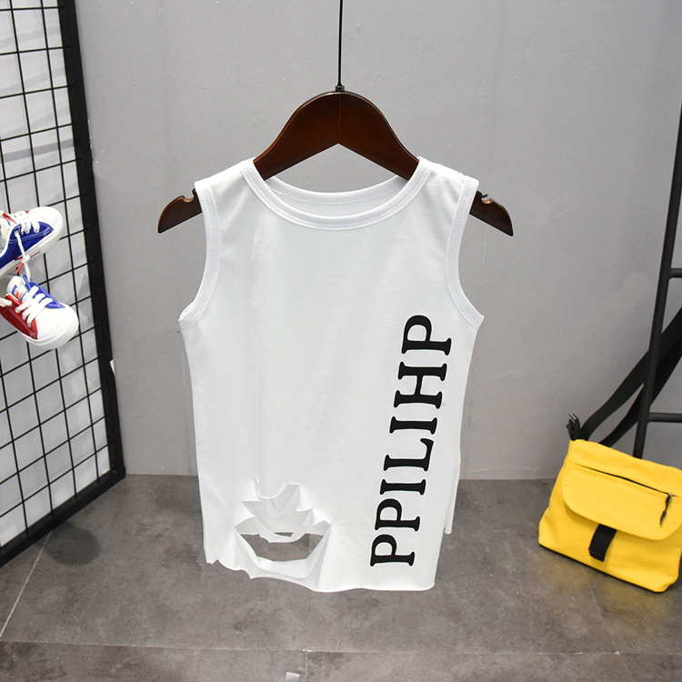 Summer Cute Letter 2PCS Kids Baby Boys Vest Top Pants Set Clothes Children Fashion Clothing Sets 2-6years 4
