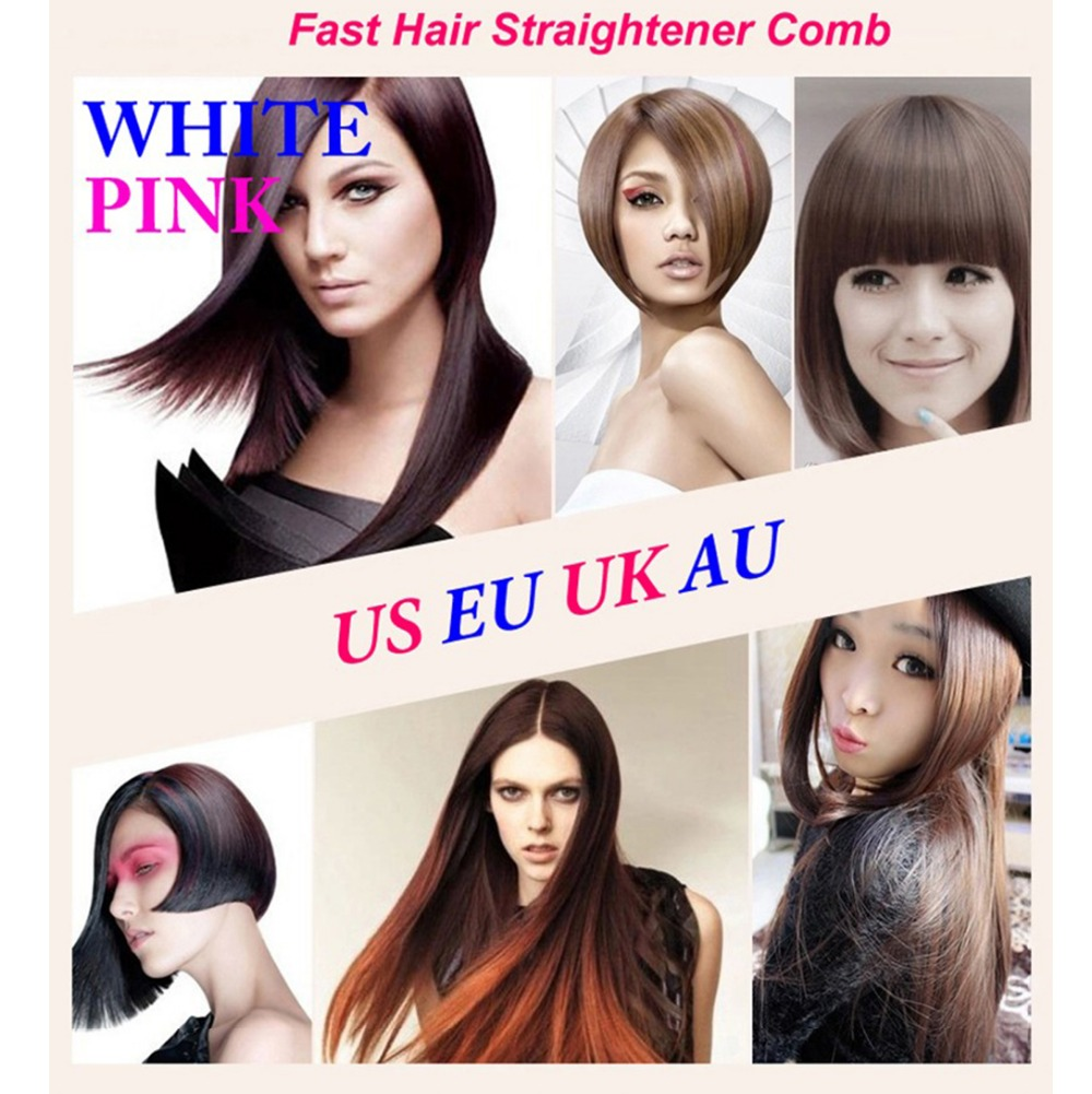 Hair Brush Straightener Electric Fast Hair Brush  Flat Iron Hair Comb LCD Iron Brush Electric Straightening Hair Massager Tools professional ceramic fast hair straightener brush flat iron best price electric hair straightening styling tools