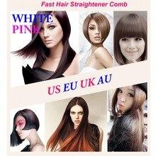 Hair Brush Straightener Electric Fast Hair Brush  Flat Iron Hair Comb LCD Iron Brush Electric Straightening Hair Massager Tools