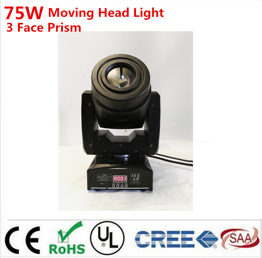 75W Gobo LED Moving Head Light 3 Face Prism DMX Controller 4/15 Channel for Stage Theater Disco Nightclub Party75W Gobo LED Moving Head Light 3 Face Prism DMX Controller 4/15 Channel for Stage Theater Disco Nightclub Party