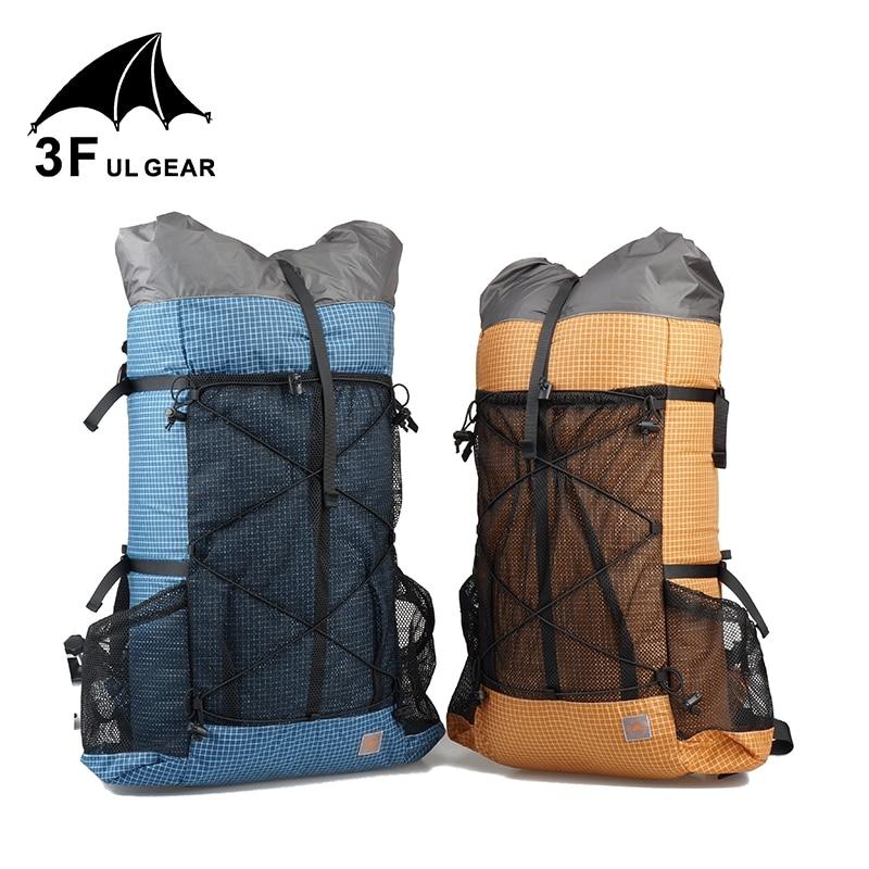 3F UL ENGRENAGEM 26L 38L Acampamento Ao Ar Livre mochila de viagem caminhadas mochila Ultraleve Frameless UHMWPE Pacotes De Trekking