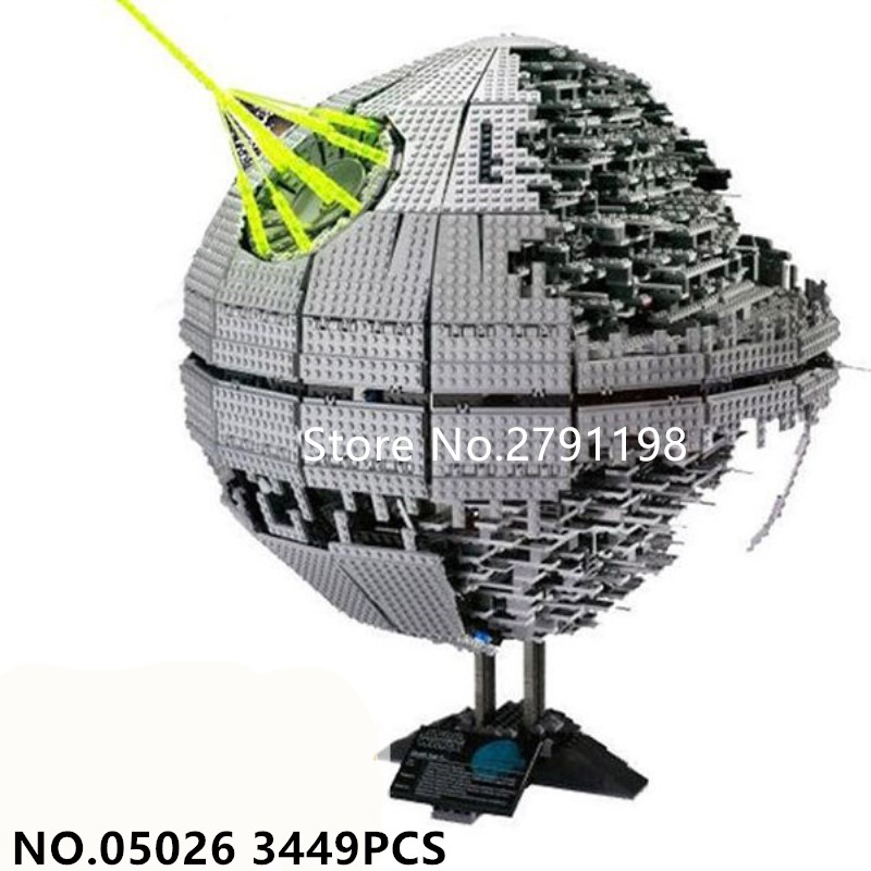 05026 3449PCS Star Wars series death star Model Building Kit Blocks Bricks educational Compatible toys boy 's gift 2017 new 3803pcs star wars death star model building kits figures blocks bricks educational children toy gift compatible 10188
