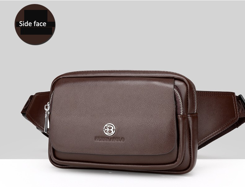 2016 Men Travel Bags Mens Leather Belt Bag Waist Pack Men Waist Bag Fanny Pack Leather Waist Pochetes Homem Bolso Cintura (29)