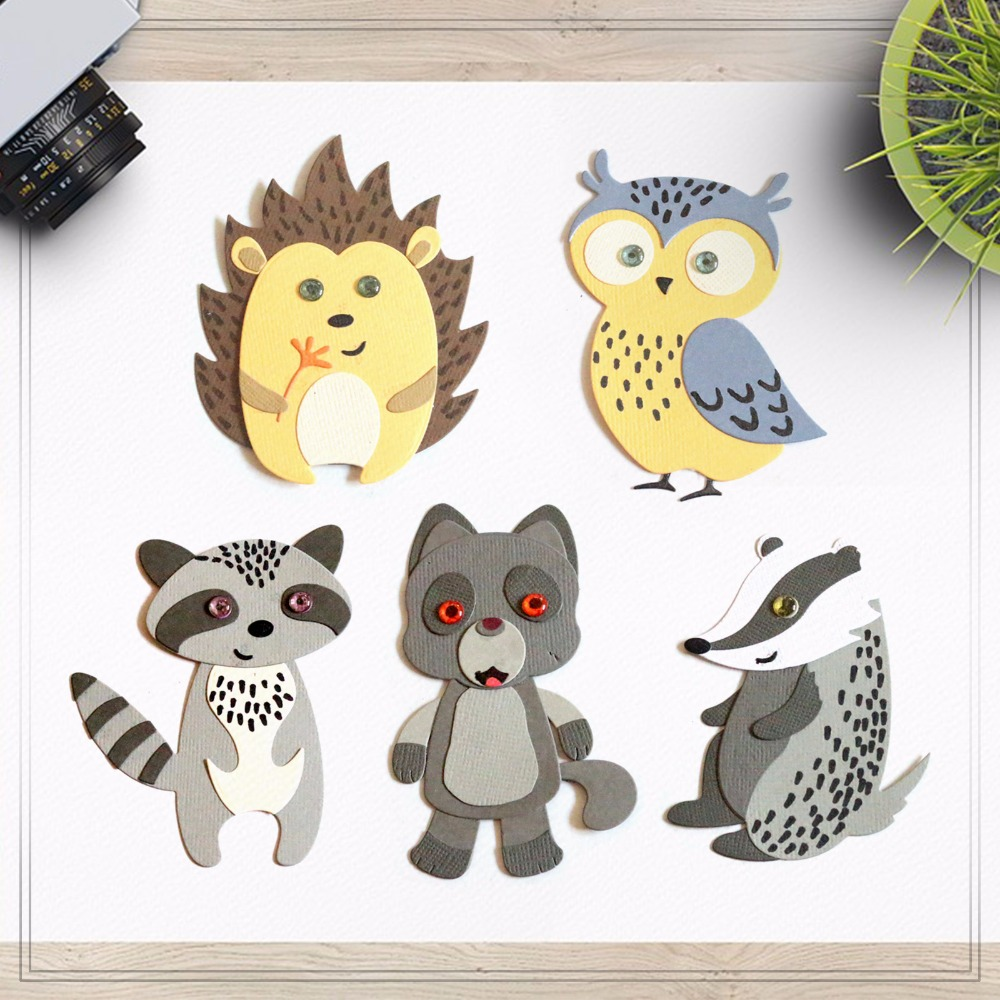 Zhuoang Metal Cutting Dies Lovely Mole Seal for DIY Scrapbooking Photo Album Card Making DIY Decoration Supply zhuoang beautiful wooden rubber clear stamps and cutting dies set for scrapbooking photo album card making diy decoration supply