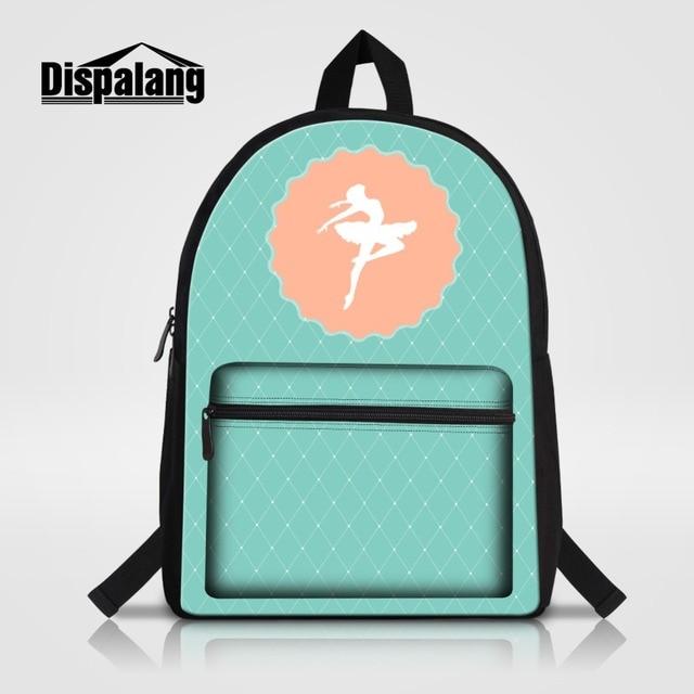 38d382b677b1 Cute Dancing Ballet Girl Printed Laptop Backpack For Women Matryoshka Doll  Unicorn Cat Cartoon School Bag Girls Bagpack Rucksack