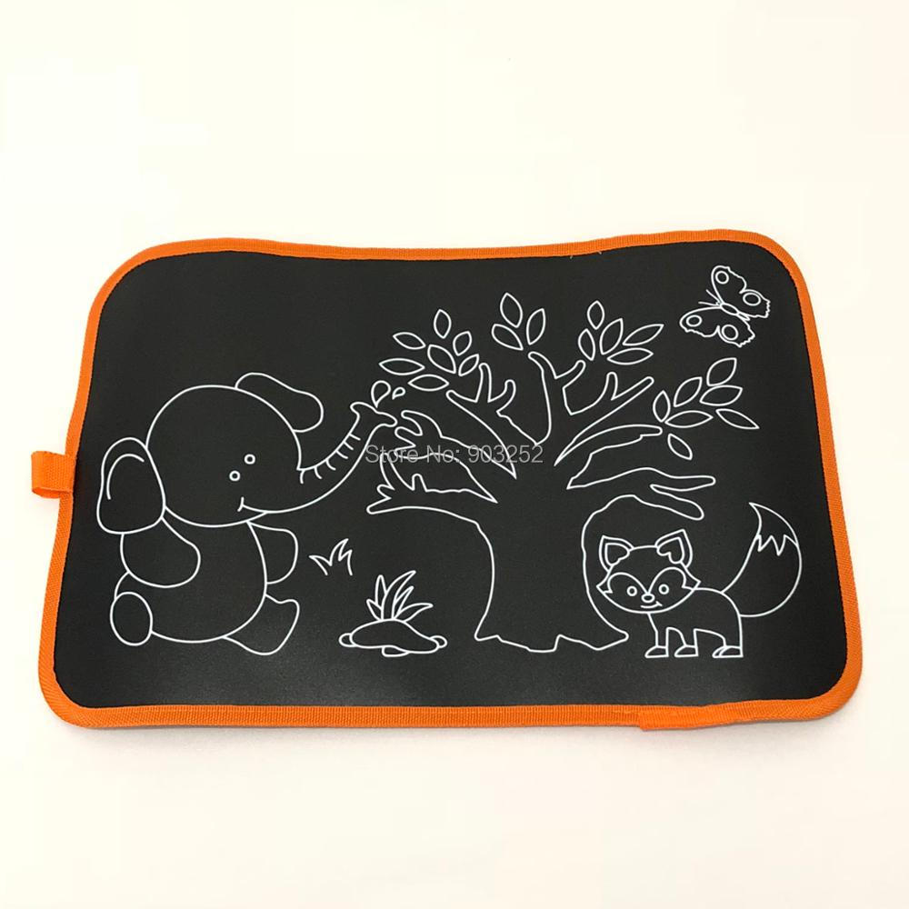 2 стиля детские коврики для рисования и книги детская портативная доска для рисования цветная меловая тканевая книга для раннего образования ребенка