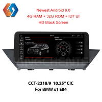 HD Black Android 9 Screen for BMW X1 E84 CIC Built in CarPlay BT WiFi GPS Multimedia Navigation 1920x720 Support iDrive Aux DVR