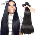 Angel grace cabelo brasileiro reta 3 pçs/lote feixes de cabelo humano virgem grau 8a não transformados cabelo brasileiro virgem do cabelo humano