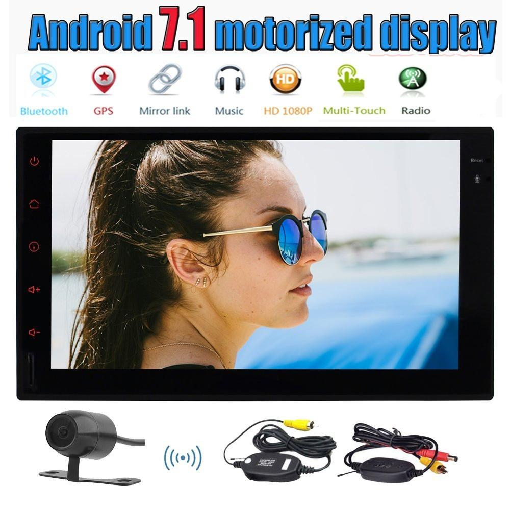 Android 7 1 2Din Car Stereo 7 Capacitive Screen Radio Player GPS Multimedia Support Bluetooth WiFi