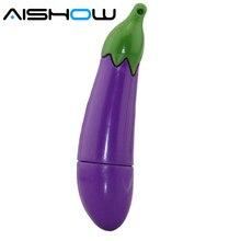 Флеш-накопитель силиконовый eggplant 1 ГБ/2 ГБ/4 ГБ/8 ГБ/16 ГБ/32 ГБ/64 Гб оптом фрукты usb накопитель флешки, usb флеш-карта накопитель карта памяти подарок