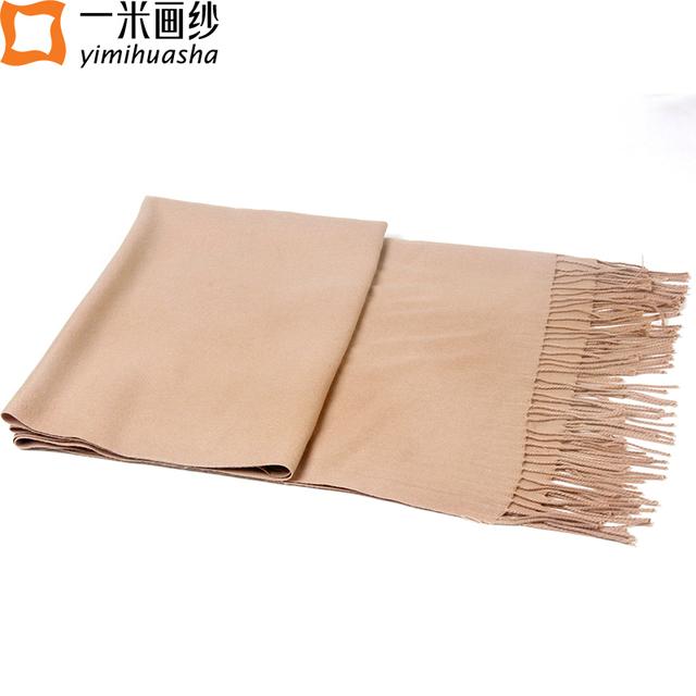 11.11 marca de Luxo simples lenços de cashmere Para as mulheres inverno borla cachecol feminino de Seda tippet echarpe femme oversize 220*95 cm