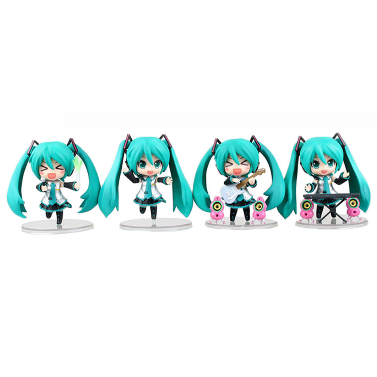 Chanycore Janpan Vocaloid Hatsune Miku Anime Figure Cute Miku Guitar Band Ver. PVC Figure Collection Model Doll Toy 10cm 170 cute hatsune miku face changeable figure garage kit set