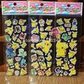 6 Hojas Pikachu 3D Pegatinas De Espuma de Dibujos Animados Modelo de Juguete Pikachu Regalo de Moda Para Niños Bebé de Juguete