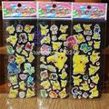 6 Sheets Pikachu 3D Sticker Foam Cartoon Model Toy Pikachu Fashion Gift For Children Baby Toy